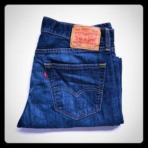 Levi's 505 dark wash denim jeans